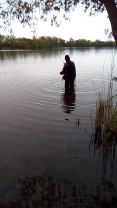 In Dülmen zum Fliegenfischen auf Hecht - Bulderner See